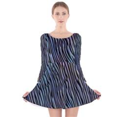 Abstract Background Wallpaper Long Sleeve Velvet Skater Dress
