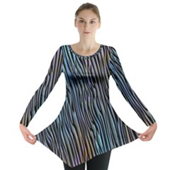 Abstract Background Wallpaper Long Sleeve Tunic