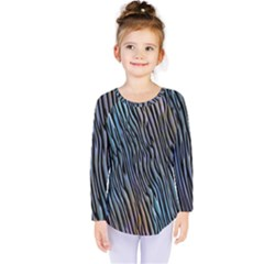 Abstract Background Wallpaper Kids  Long Sleeve Tee