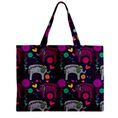 Colorful Elephants Love Background Mini Tote Bag