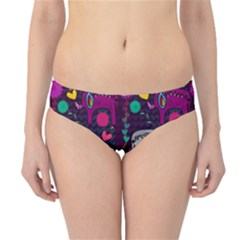 Colorful Elephants Love Background Hipster Bikini Bottoms