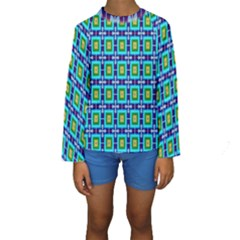 Seamless Background Wallpaper Pattern Kids  Long Sleeve Swimwear