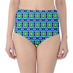Seamless Background Wallpaper Pattern High-Waist Bikini Bottoms
