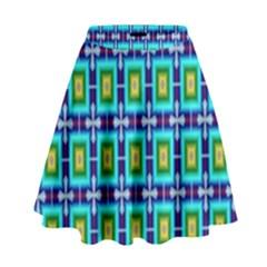 Seamless Background Wallpaper Pattern High Waist Skirt