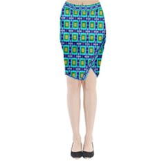 Seamless Background Wallpaper Pattern Midi Wrap Pencil Skirt