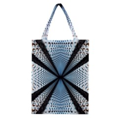 Dimension Metal Abstract Obtained Through Mirroring Classic Tote Bag