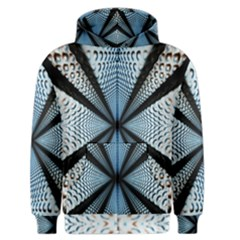 Dimension Metal Abstract Obtained Through Mirroring Men s Zipper Hoodie