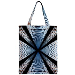 Dimension Metal Abstract Obtained Through Mirroring Zipper Classic Tote Bag