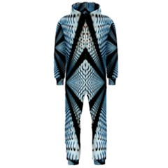 Dimension Metal Abstract Obtained Through Mirroring Hooded Jumpsuit (Men)