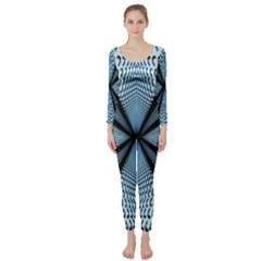 Dimension Metal Abstract Obtained Through Mirroring Long Sleeve Catsuit