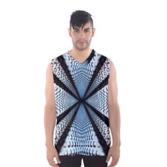 Dimension Metal Abstract Obtained Through Mirroring Men s Basketball Tank Top