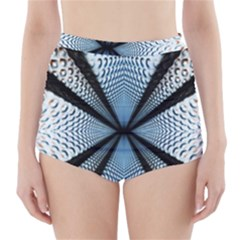 Dimension Metal Abstract Obtained Through Mirroring High Waisted Bikini Bottoms