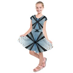 Dimension Metal Abstract Obtained Through Mirroring Kids  Short Sleeve Dress