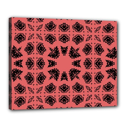 Digital Computer Graphic Seamless Patterned Ornament In A Red Colors For Design Canvas 20  X 16