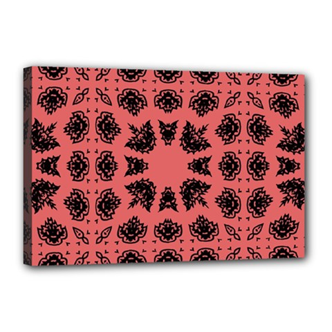 Digital Computer Graphic Seamless Patterned Ornament In A Red Colors For Design Canvas 18  X 12