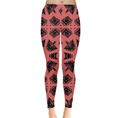 Digital Computer Graphic Seamless Patterned Ornament In A Red Colors For Design Leggings
