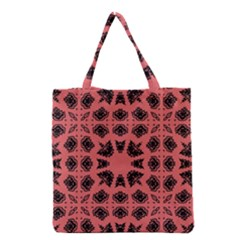 Digital Computer Graphic Seamless Patterned Ornament In A Red Colors For Design Grocery Tote Bag