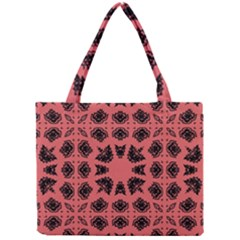 Digital Computer Graphic Seamless Patterned Ornament In A Red Colors For Design Mini Tote Bag
