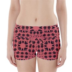 Digital Computer Graphic Seamless Patterned Ornament In A Red Colors For Design Boyleg Bikini Wrap Bottoms