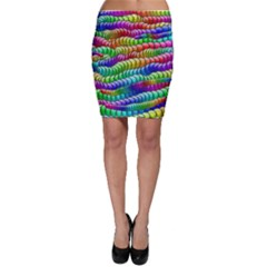 Digitally Created Abstract Rainbow Background Pattern Bodycon Skirt