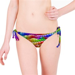 Digitally Created Abstract Rainbow Background Pattern Bikini Bottom