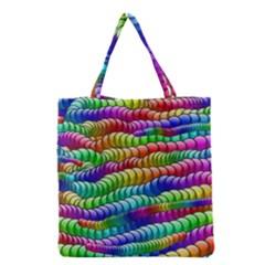 Digitally Created Abstract Rainbow Background Pattern Grocery Tote Bag