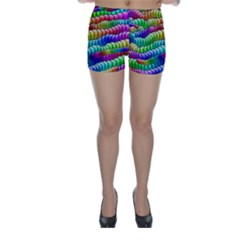 Digitally Created Abstract Rainbow Background Pattern Skinny Shorts