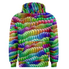 Digitally Created Abstract Rainbow Background Pattern Men s Pullover Hoodie