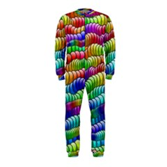 Digitally Created Abstract Rainbow Background Pattern OnePiece Jumpsuit (Kids)