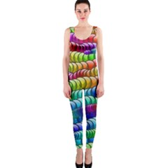 Digitally Created Abstract Rainbow Background Pattern OnePiece Catsuit