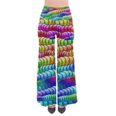 Digitally Created Abstract Rainbow Background Pattern Pants