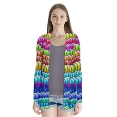 Digitally Created Abstract Rainbow Background Pattern Cardigans