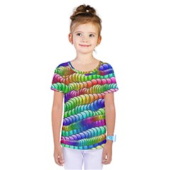 Digitally Created Abstract Rainbow Background Pattern Kids  One Piece Tee