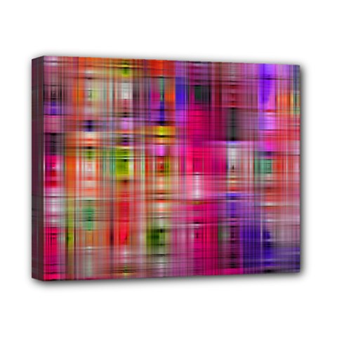 Background Abstract Weave Of Tightly Woven Colors Canvas 10  x 8