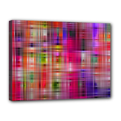 Background Abstract Weave Of Tightly Woven Colors Canvas 16  X 12