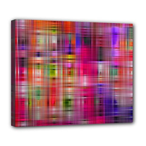 Background Abstract Weave Of Tightly Woven Colors Deluxe Canvas 24  X 20