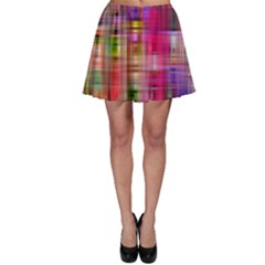 Background Abstract Weave Of Tightly Woven Colors Skater Skirt