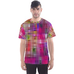 Background Abstract Weave Of Tightly Woven Colors Men s Sport Mesh Tee