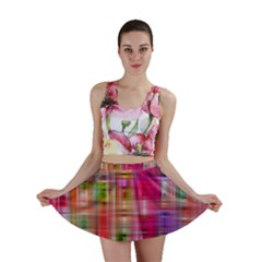 Background Abstract Weave Of Tightly Woven Colors Mini Skirt