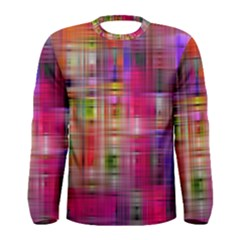 Background Abstract Weave Of Tightly Woven Colors Men s Long Sleeve Tee