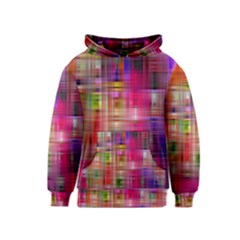 Background Abstract Weave Of Tightly Woven Colors Kids  Pullover Hoodie