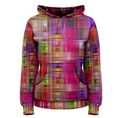 Background Abstract Weave Of Tightly Woven Colors Women s Pullover Hoodie
