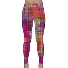 Background Abstract Weave Of Tightly Woven Colors Classic Yoga Leggings