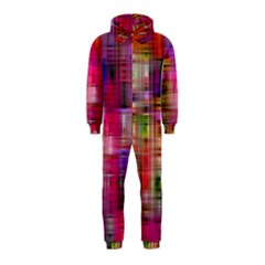 Background Abstract Weave Of Tightly Woven Colors Hooded Jumpsuit (Kids)