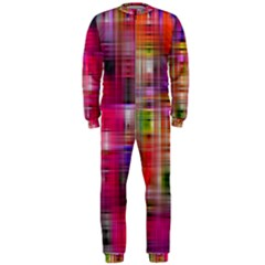 Background Abstract Weave Of Tightly Woven Colors OnePiece Jumpsuit (Men)