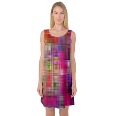 Background Abstract Weave Of Tightly Woven Colors Sleeveless Satin Nightdress