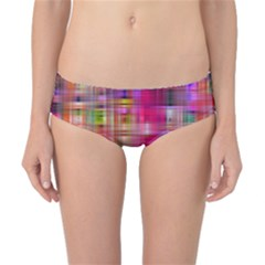 Background Abstract Weave Of Tightly Woven Colors Classic Bikini Bottoms