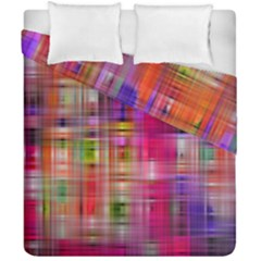 Background Abstract Weave Of Tightly Woven Colors Duvet Cover Double Side (california King Size)