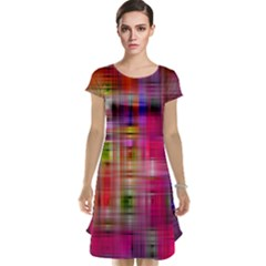 Background Abstract Weave Of Tightly Woven Colors Cap Sleeve Nightdress