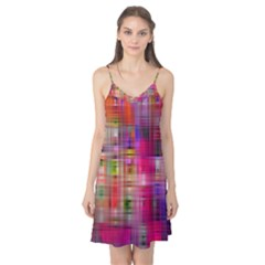 Background Abstract Weave Of Tightly Woven Colors Camis Nightgown